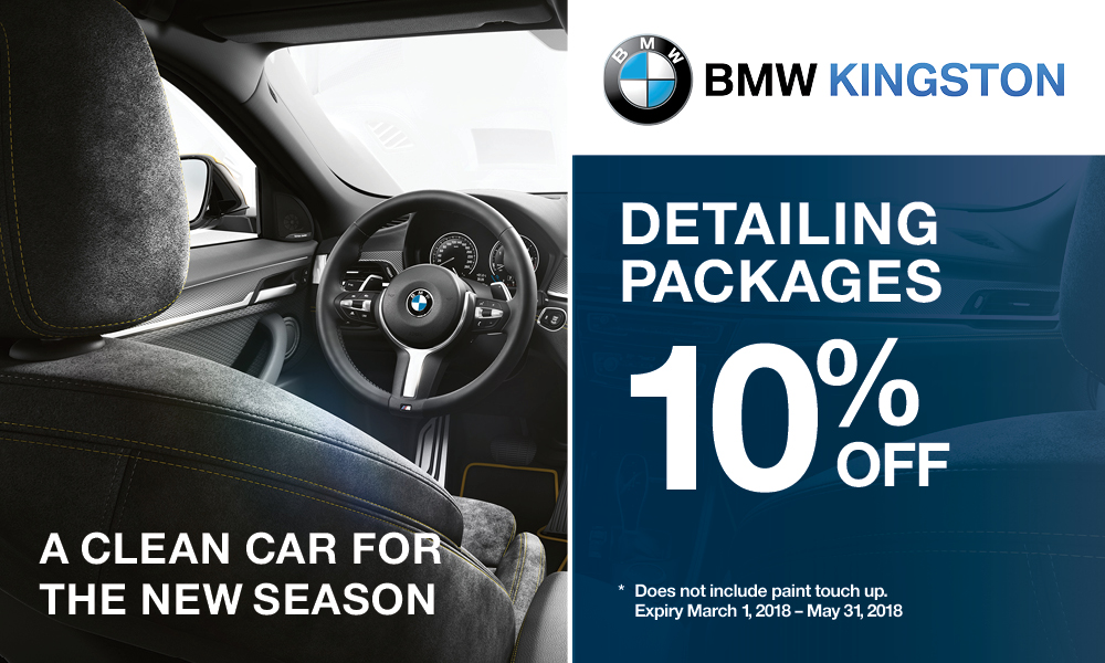 BMW Kingston Detailing Packages