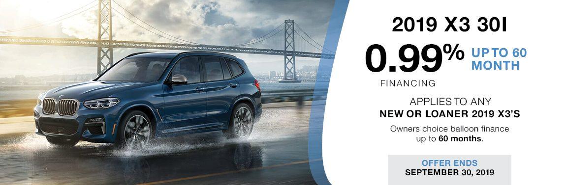 BMW KINGSTON X3 30i FINANCING OFFERS